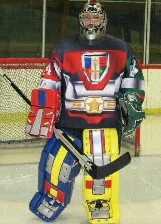 Sometimes I feel like a transformer - Hockey Goalie