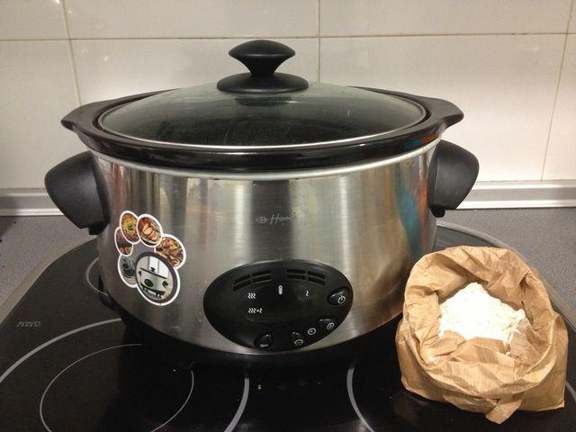 """Vamos a cocinar un pan casero al estilo """"slow cook""""en una maquina especial de cocina lenta"""