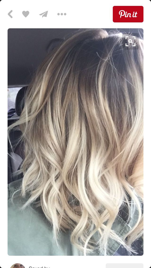 Blonde balayage on short hair