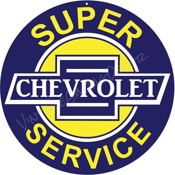 Chevrolet Chevy Super Service Retro Metal Tin Sign