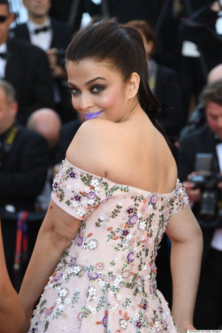 Cannes 2016: Aishwarya Rai Rocks Purple Lipstick To From The Land Of The Moon Premiere #Cannes Film Festival 2016 Red Carpet Fashion #Rami #Kadi #Couture, #Aishwarya #Rai, #Bollywood, #ShahRukhKhan, #India #Amitabh #Bachchan #saree