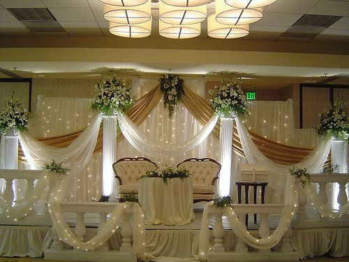 Simple church wedding decorations white beautiful for American wedding stage decoration