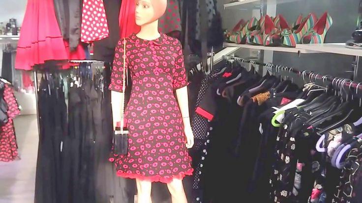 Kiss Me Deadly Vestido Rockabilly 60s Rojo y negro