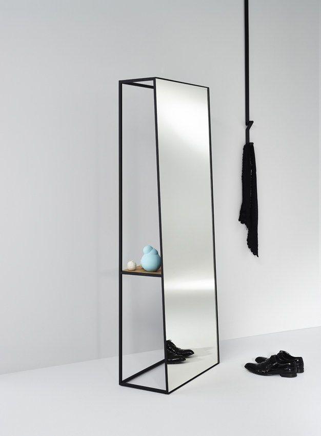 mirror thin black frame