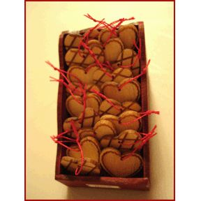 Christmas Wood Heart Ornaments