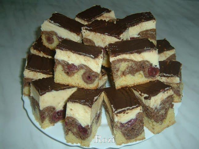 DUNA HULLÁM  Hozzávalók: 25 dkg vaj  25 dkg cukor  1 vaníliás cukor  6 tojás  35 dkg liszt  1 tasak sütőpor(1dkg)  2 evőkanál kakaó  1 ki...