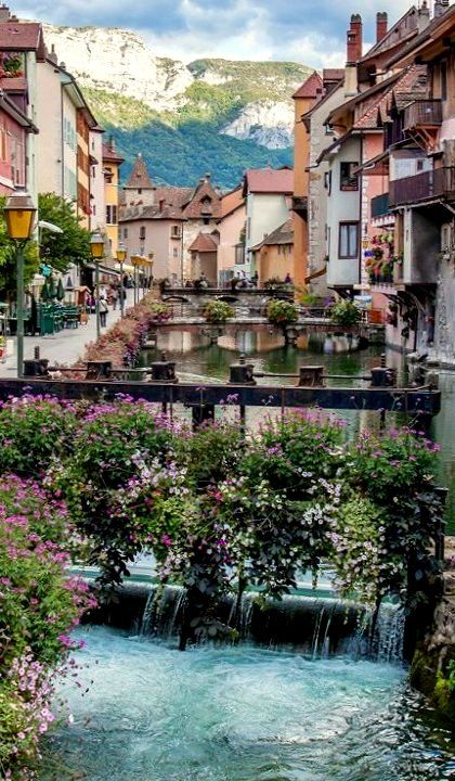 Annecy is called The Venice of Savoy region because of its historic buildings raising along the canal, but the views of the Alps behind the town make it special...Learn more: http://www.touristeye.com/Annecy-p-21267