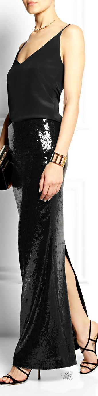 If and/or when I ever get skinny enough to wear this: Donna Karan ● Sequin embellished maxi skirt