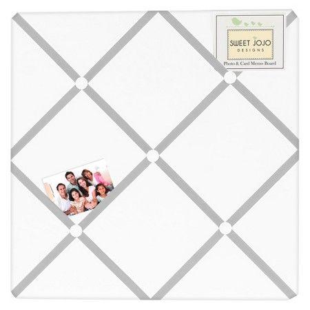 Sweet Jojo Designs White Gray Hotel Photo Memo Board : Target