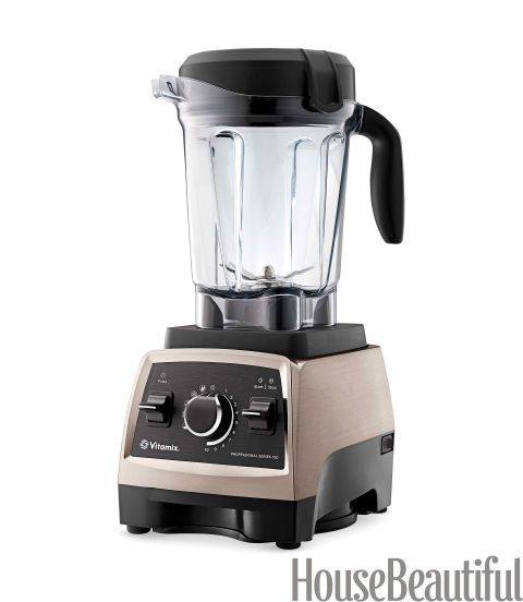 """No other blender on the market can match the horsepower of this professional-grade model. Toss your ingredients into the machine, set it to """"soup"""" mode, and switch on the power. Not only will the blender deliver a perfect puree, but the friction generated by its whirling blades creates temperatures high enough to cook the soup. It also makes short work of ice, nuts, dough, and fruit smoothies. Vitamix Professional Series 750, $689. vitamix.com."""