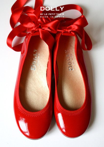 DOLLY by Le Petit Tom ® BALLERINA'S 4GB RED Patent leather