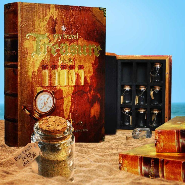 Houd je vakantie in leven door souvenirs mee te nemen & te bewaren in dit unieke herinneringen reis boek. Perfect cadeau voor reizigers en avonturier. Bekijk ook onze andere reis gadgets.