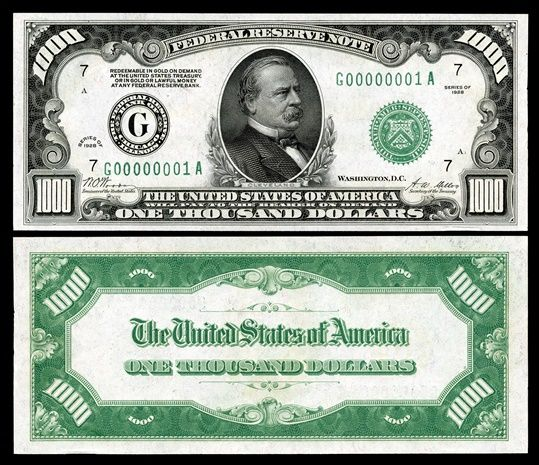 The Layman's Guide to 1000 Dollar Bill | Goldabree