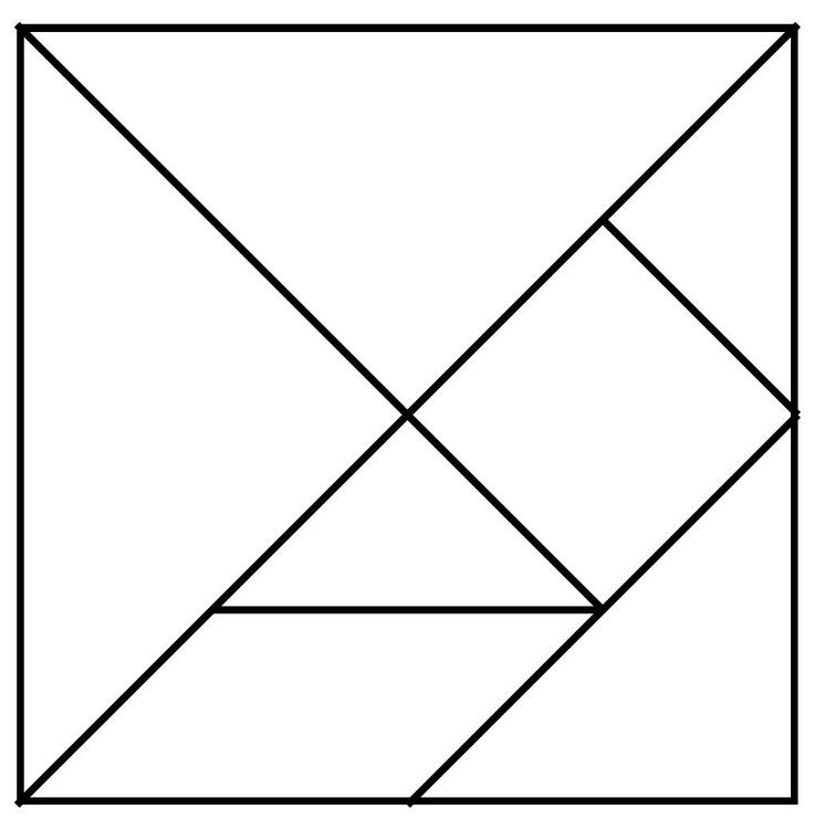 Wild image intended for printable tangram puzzles