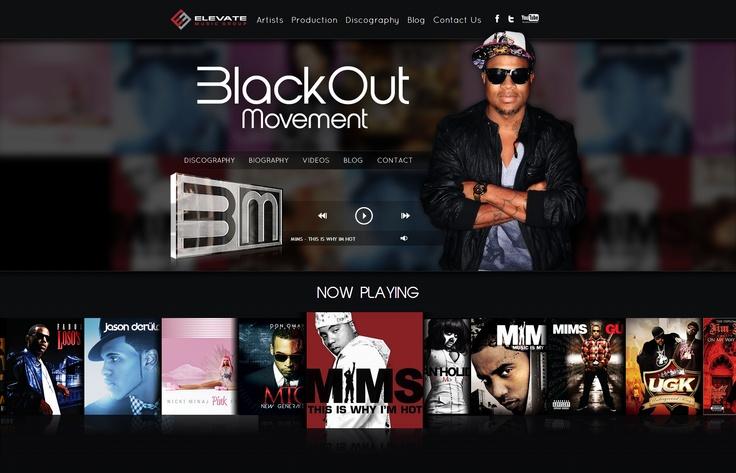 Blackout Movement - Celebrity Website Design