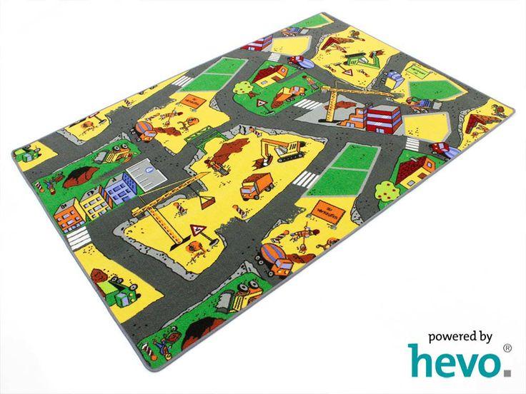 Baustellen Spielteppich | Kinderteppich von hevo.