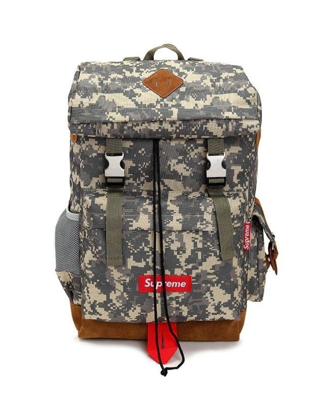 SUPREME CAMO L SIZE BAG PACK MOUNTAIN BAG 091  US$139.00