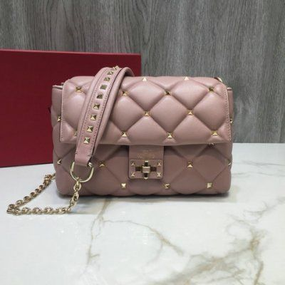 da8fafe1cf 2018 Valentino Small Candystud Crossbody Bag in Lambskin Leather ...