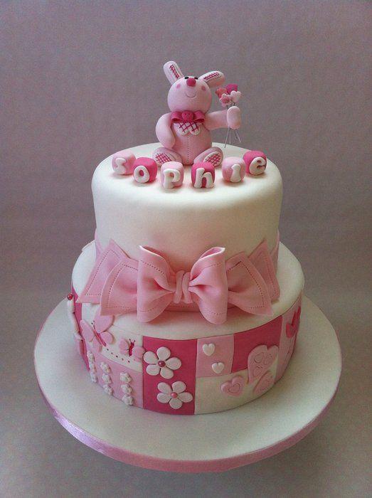 Sophie's christening cake:) xx - by Rachell @ CakesDecor.com - cake decorating website