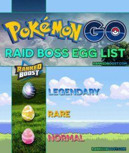 Pokemon GO Raid Boss Egg List   Normal, Rare & Legendary Raid Egg. Best Pokemon For Attacking Normal and Rare Egg Raid Bosses