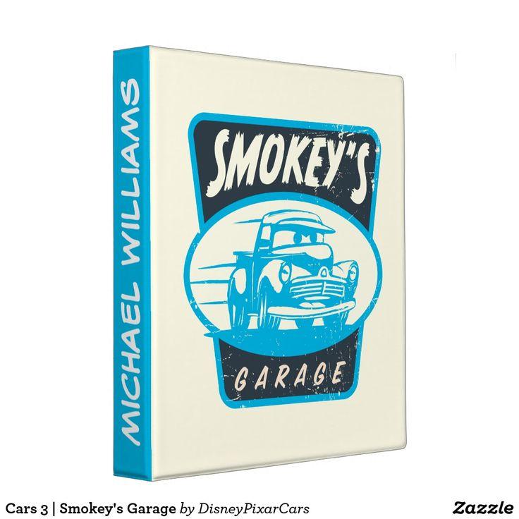 Cars 3 Smokey S Garage Binder Cars Movie Custom Binders