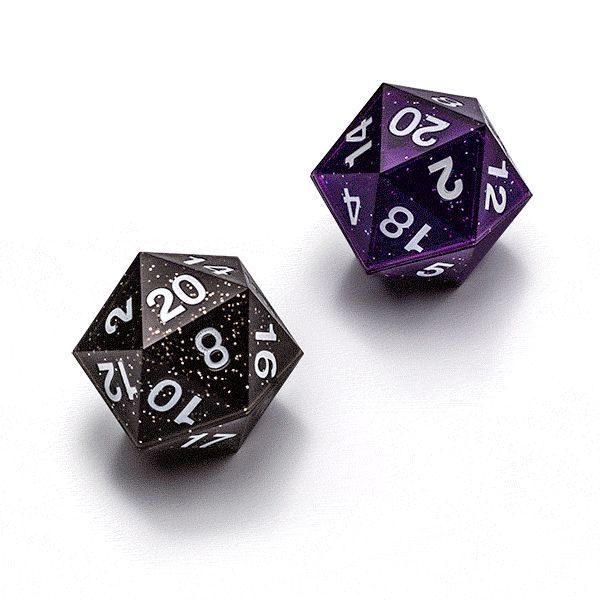 rolling a 20 sided dice