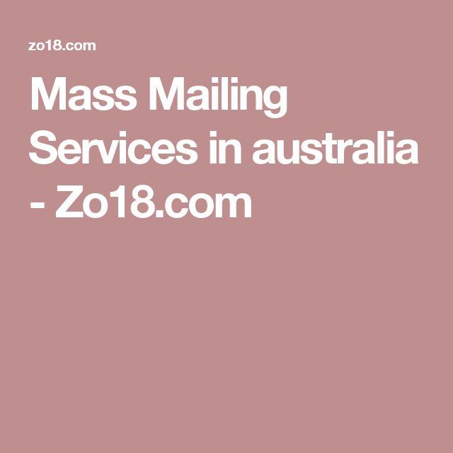 Mass Mailing Services in australia - Zo18.com