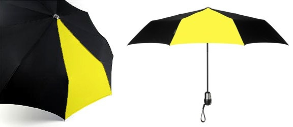 DAVEK-Solo Umbrella Sport Yellow and Black