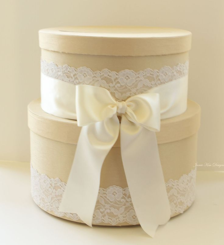 Wedding Card Box, Money Box, Gift Card Holder - Choose your own color. $105.00, via Etsy.