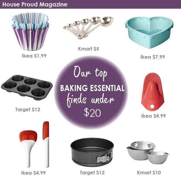 Baking Essentials sourced by House Proud Magazine