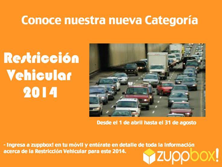 ¡Que no te saquen un parte! Revisa el calendario de restricción vehicular permanente en zuppbox! móvil.
