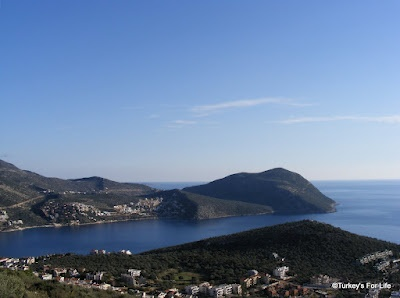 A view of Kalkan and the Mediterranean from Turkey's amazing D400 road.