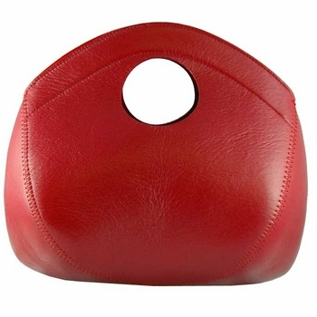 Leather and Felt Handbag by Pia Wallen: On sale $200.