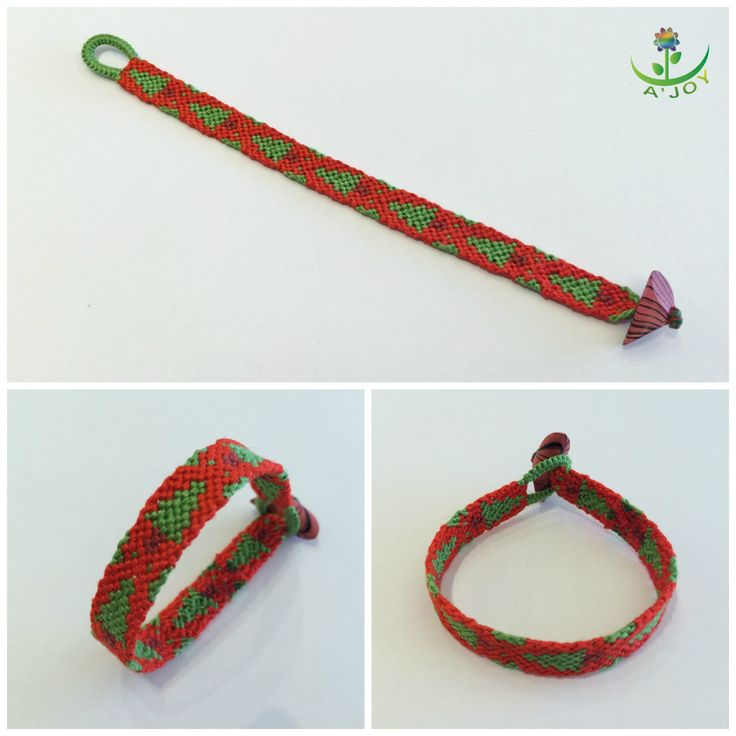 Friendship Bracelet FB00020 (Strings : 12, Colours : 3, Rows : 20)