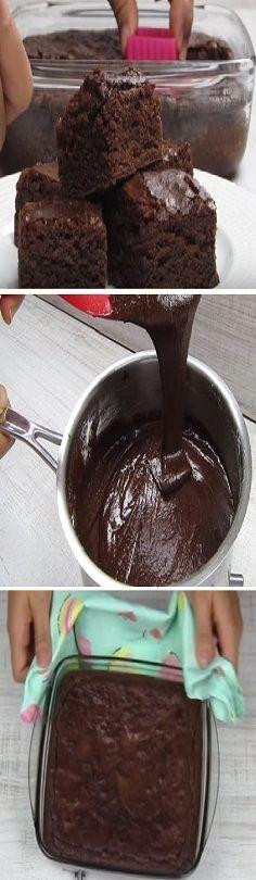 Cómo hacer brownies de chocolate ¡La receta original, Si te gusta dinos HOLA y dale a Me Gusta MIREN