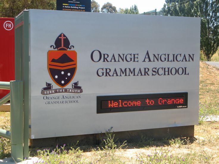 Orange Anglican Grammar School #LED #school #sign