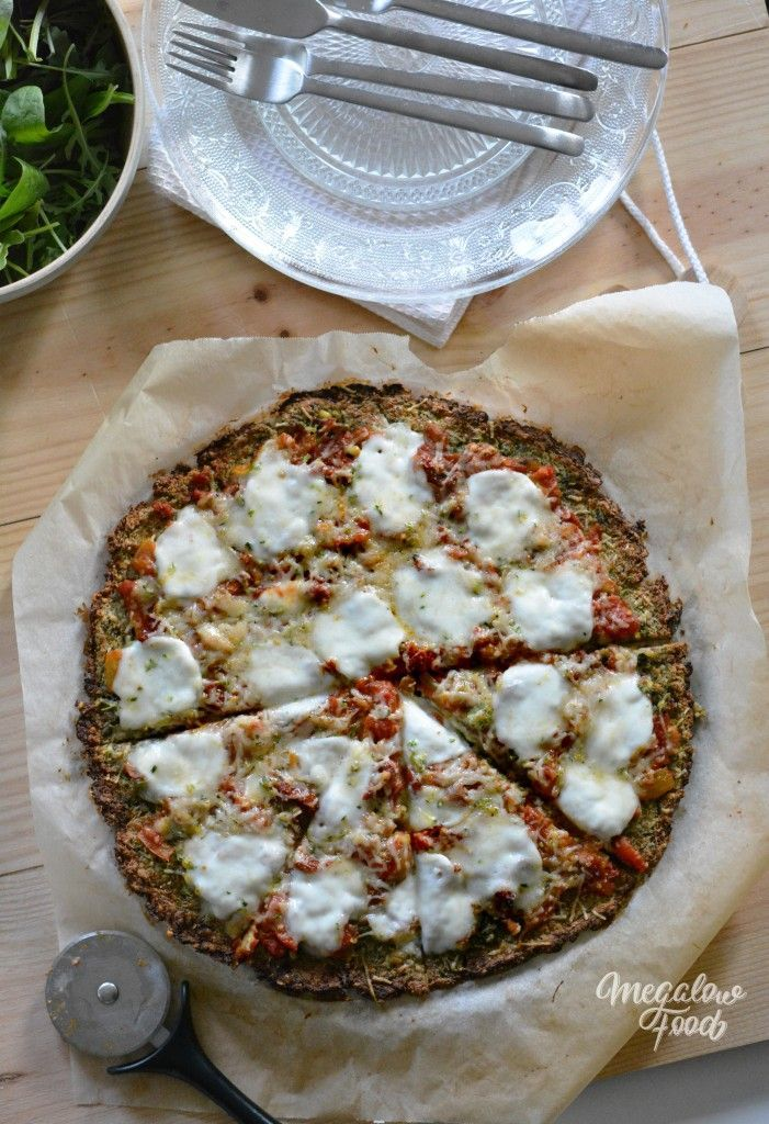 Base de pizza à la courgette IG bas, sans gluten, vegan