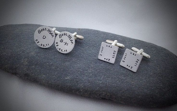Affordable cuff links, personalise them with a message or dates