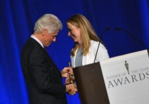 """It's the only title better than President of the United States. Bill Clinton was named """"Father of the Year"""" by the National Father's Day Committee on Tuesday as the former leader was celebrated by family and friends for his accomplishments as a dad."""