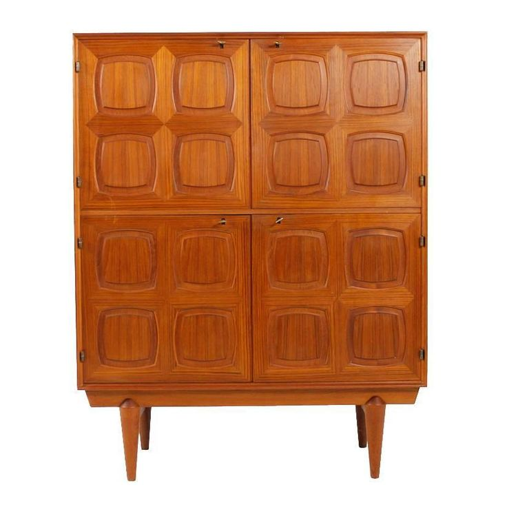Midcentury Rastad & Relling High Graphic Sideboard for Gustav Bahus Norway, 1960