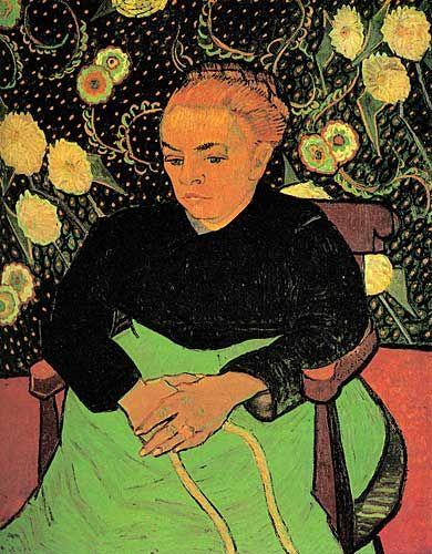 Van Gogh La Berceuse (Augustine Roulin) http://goo.gl/hY4wC0  #vangogh #vincent #painting #paintings #paintingart #ressam #ressamlar #resimler #kültür #kültürsanat #sanat #art #arts #artist #artists #grafiksaati