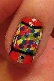 Gumball Machine Nails - dots nail art design in bright colors;  || OH MY GOSH THESE ARE DARLING!!!