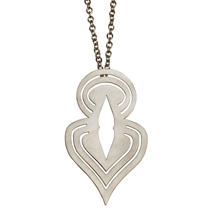 "Silver statement pendant from NOILENCE's Unity collection.  Materials: Pendant-- sterling silver  Measurements: Chain-- 41 cm (16.1"") on each side, Pendant-- 6.5 cm x 4 cm (2.6"" x 1.6"")  Designed in: Greece  Crafted in: Greece"