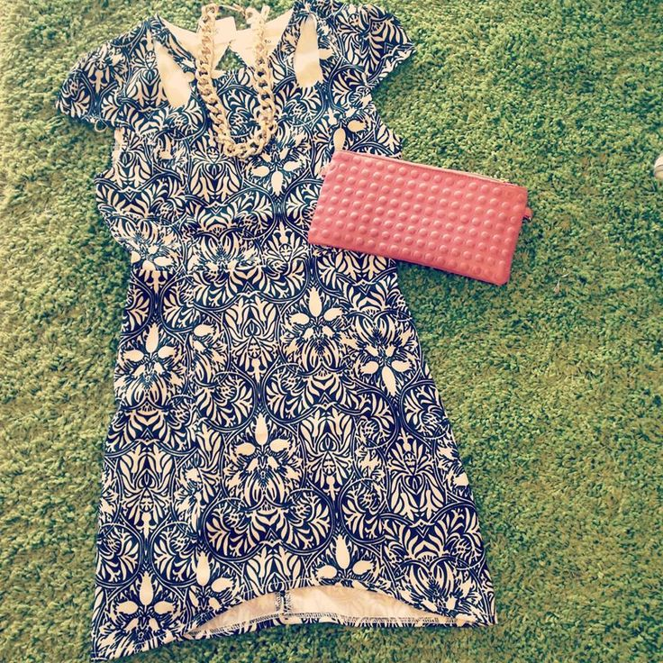 French affair dress $25   Clutch $10  Gold chain $18   Total :$53 — at Style Society Sydney.