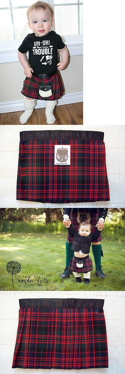 Other Baby 1261: Baby Scottish Kilt Macdonald Tartan Plaid 4-12 M Christening Christmas Outfit -> BUY IT NOW ONLY: $33.99 on eBay!