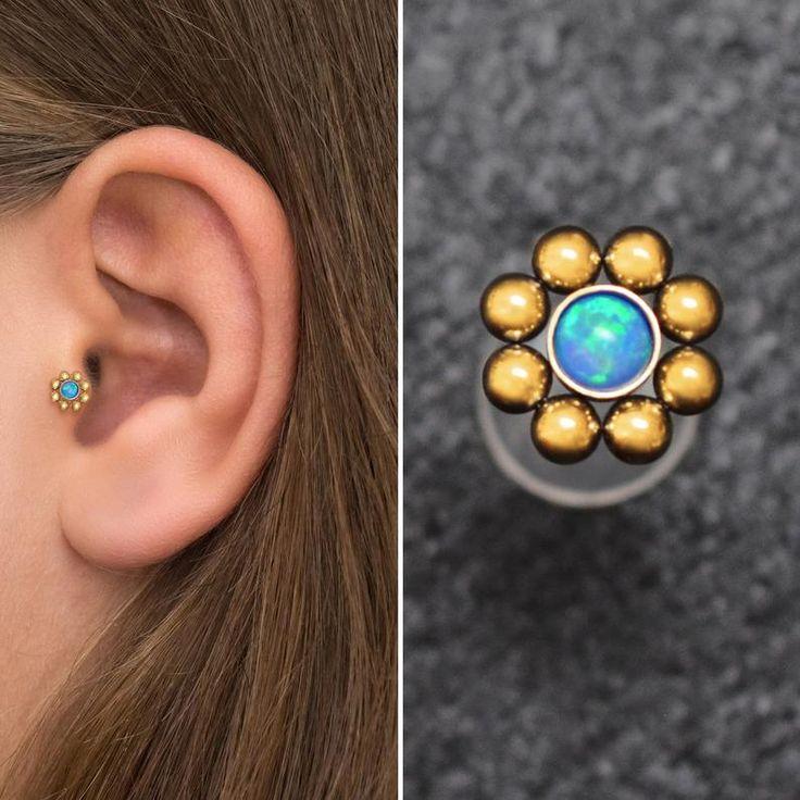 Opal Cartilage Piercing Bioflex, Tragus Earring, Conch ...