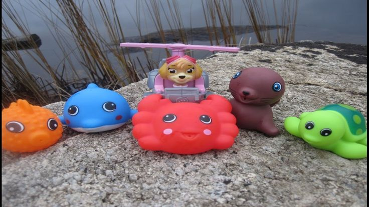 Paw Patrol Skye Toys Helicopter Sea Animals Learning Video for Children ...
