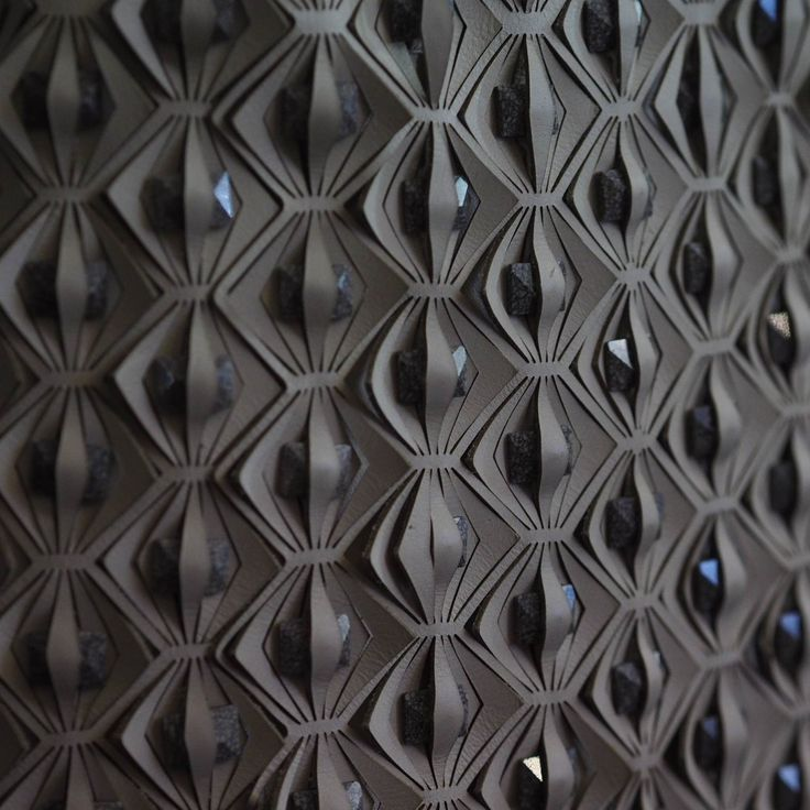 Innovative textiles for fashion with embellishment & laser cut patterns; fabric manipulation // Iris Van Herpen Spring 2016