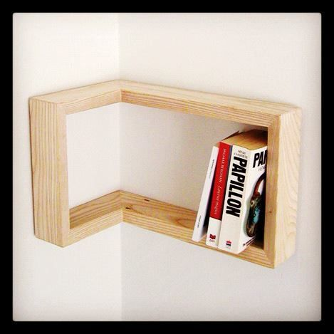 Corner book shelf. So doing this.