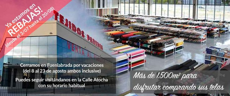 2 tiendas de telas de Tejidos Paredes: Madrid y Fuenlabrada con todas las telas para confeccion, tejidos de fiesta, tejidos para disfraces